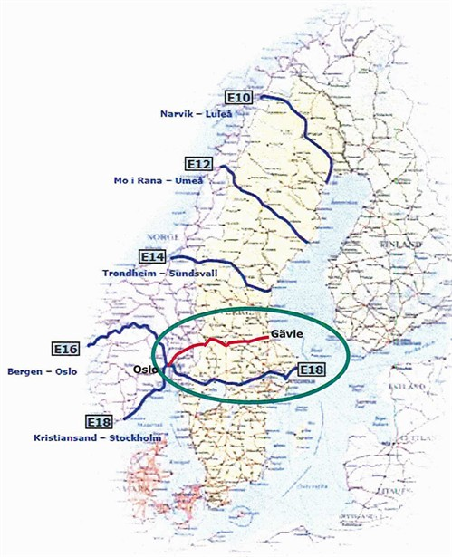 malung sverige kart Stamvegutvalget | E 16 Bergen – Gävle åpnet malung sverige kart